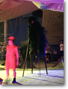 Monster on stilts
